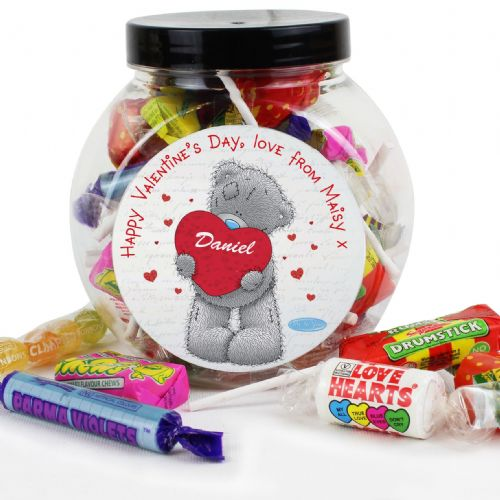 Personalised Me To You Retro Sweet Jar Gift For Valentines Day, Anniversary & Birthday